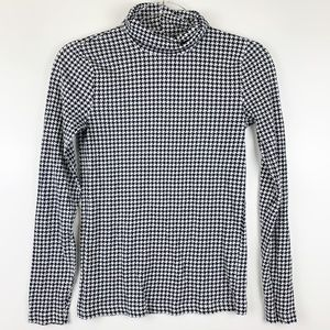J.Crew Houndstooth Printed Tissue Turtleneck XS